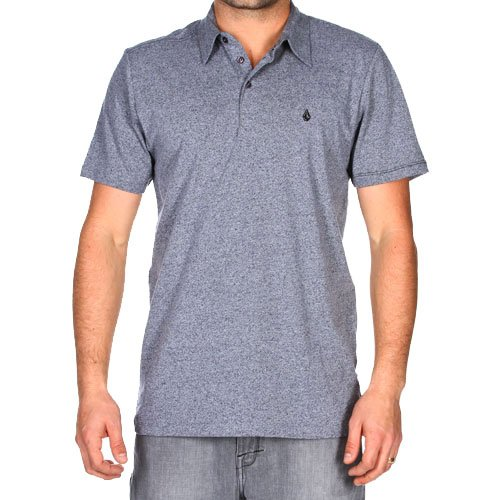 Volcom Men's Bangout Polo SS Shirt - Metal Marled (M)