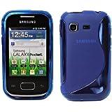 S-Line TPU SchutzHülle für Samsung Galaxy Pocket S5300 Silikon Hülle in Blau