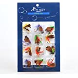Piscifun® 12pcs Fly Fishing Flies Set Butterfly Like Trout Bass Floating Fishing Lure