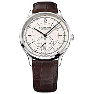 Louis Erard Men's 1931 40mm Brown Leather Band Steel Case Automatic Cream Dial Watch 33226AA11.BDC80