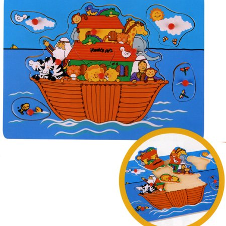 Picture of The Toy Workshop Noah's Ark Pull Out Puzzle (B0014O4VX8) (Pegged Puzzles)