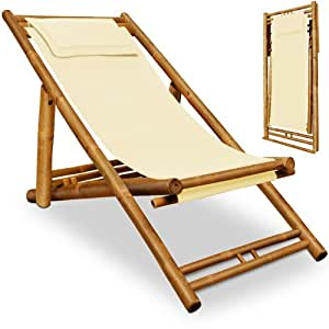 Wooden Deck Chair Fabric Bamboo Folding Garden Chairs With Remov