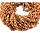 Sumit 2 Strands Beautiful Natural Brown Sunstone Chips Beads Strands,Jewelry Making Chips,34