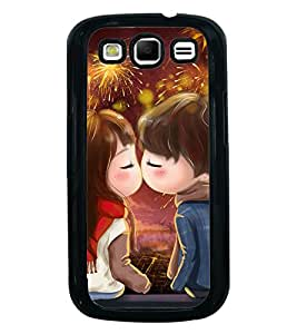 Fuson Premium 2D Back Case Cover Cute lovers With Brown Background Degined For Samsung Galaxy S3::Samsung Galaxy S3 i9300