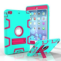 Eastchina New Fashion Style Super Light Weight Cute Kid Child Shock Proof EVA Foam Handle Stand Super Protection Convertible Protective Cover Case for Apple Ipad Mini 1 & Ipad Mini 2 & Ipad Mini 3 | Fashion Blue