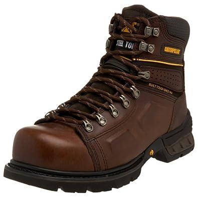 "Caterpillar Men's Endure Super Duty 6"" Steel Lace To Toe Boot,Oak,7 M US"