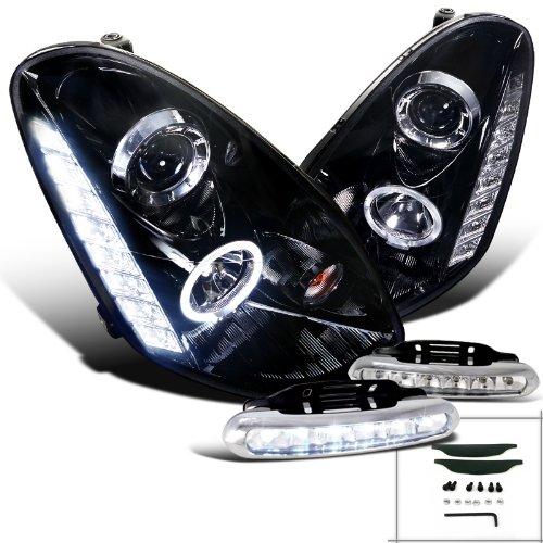Covers Black LED Fog Daytime Light DRL L+R SET For INFINITI 06 07 08 G35