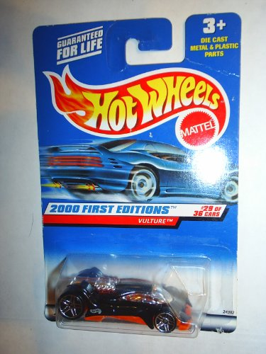 1999 - Mattel / Hot Wheels - Vulture (Black w/ See Thru Bottom) - 2000 First Editions #29 of 36 Cars - 1:64 Scale Die Cast - MOC - Collector #089 - Limited Edition - Collectible - 1