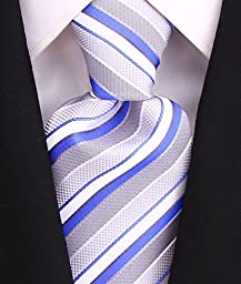 Neckties By Scott Allan - Sky Blue & Gray Men's Tie