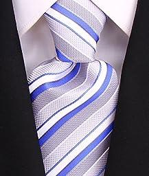 Neckties By Scott Allan - Sky Blue & Gray Men\'s Tie