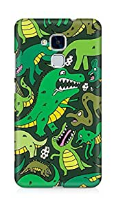 Amez designer printed 3d premium high quality back case cover for Huawei Honor 5C (Dinosaur Pattern)