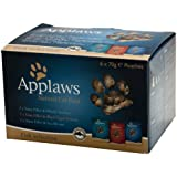 Applaws Fish Multipack 6 x 70 g (Pack of 8, Total 48 Pouches)