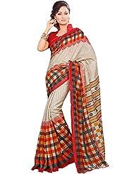 Shri Vaishnavi Designer Raw Silk Printed Saree (12032)