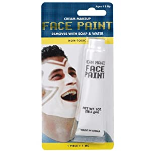 AMSCAN Face Paint, 1-Ounce, White
