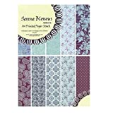Shopaholic A4 Size Serene Paper- 10 Designs 30 Blossoms Printed Paper- Craft Paper For Card And Scrap Booking-SBMA4...
