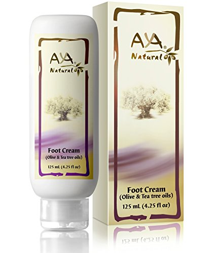 Natural Foot Cream for Cracked Feet - Vegan Premium Moisturizer for Dry Heels 4.25 oz - Shea, Olive, Jojoba and Tea Tree Oils Blend (Foot Treatment Cream compare prices)
