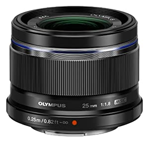 Olympus V311060BU000 25mm f1.8 Interchangeable Lens for Olympus/Panasonic Micro 4/3 Digital Camera