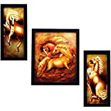 3 PIECE SET OF FRAMED WALL HANGING ART - B01GA4Z9HI