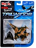"""Maisto Fresh Metal Tailwinds 1:120 Scale Die Cast United States Military Aircraft - U.S. Air Force Multirole Jet Fighter Aircraft F-16 Fighting Falcon with Display Stand (Dimension: 3-1/4"""" x 5"""" x 1"""")"""