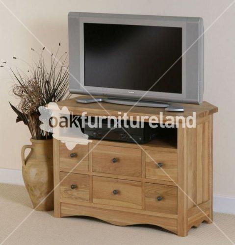 Cairo Natural Solid Oak TV Corner Cabinet Black Friday & Cyber Monday 2014