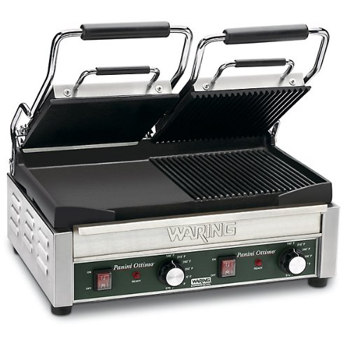 Waring Commercial WFG300 Panini Tostato Ottimo Dual Italian-Style Panini Grills, 240-volt (Waring Wfg300 compare prices)