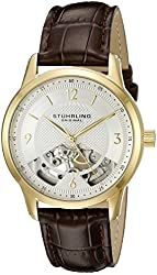 Stuhrling Original Men's 977.03 Legacy Analog Display Mechanical Hand Wind Brown Watch