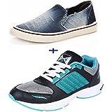 Chevit Men's Denim Wash Blue Casual Shoes (Running Shoes & Sneakers)