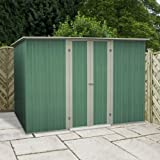 10 x 6 Pent Metal Shed, garden shed, storage, metal store with double doors from Buttercup Farm