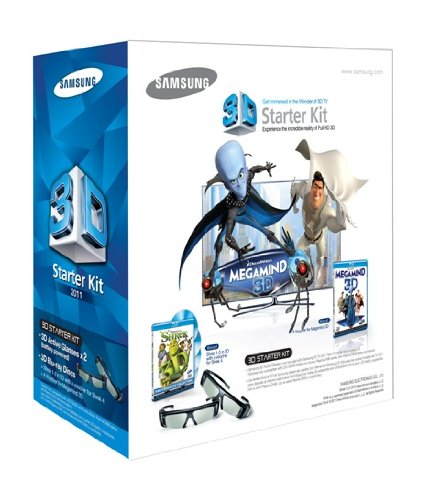 Samsung SSG-P3100M Megamind 3D Starter Kit - Black (Compatible with 2011 3D TVs)