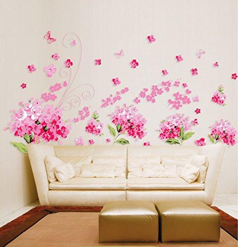 pink-cherry-blossom-blumen-wandtattoo-house-aufkleber-abnehmbarer-wohnzimmer-tapete-schlafzimmer-kuc