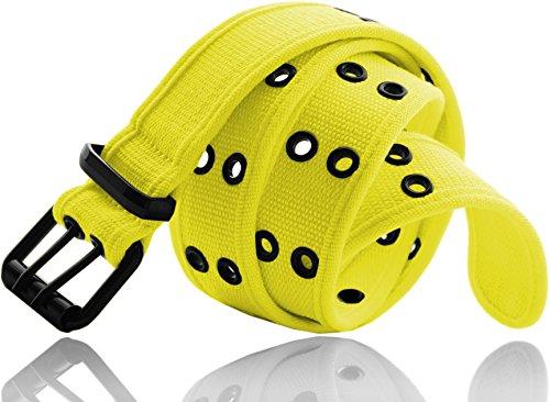 Eurosport Premium Canvas Grommet Belt - WB211 - Neon Yellow M (Neon Yellow Belt compare prices)