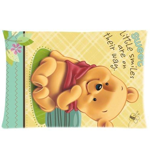 Soft Cotton Home Bedding Pillowcase Cushion Covers 1 Side 20X30-Print Cute Cartoon For Children Winnie The Pooh Photos-2
