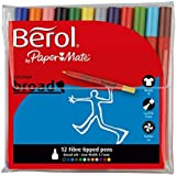 Berol Colour Broad Pen - Assorted Colours (Pack of 12)