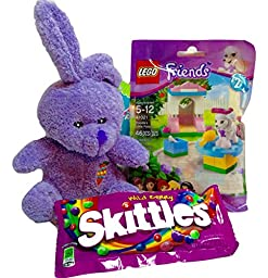 Lego Friend\'s, Skittles, Mini Plush Toy Purple Bunny (Lego Friend, Poodle\'s Little Palace). 3-pc