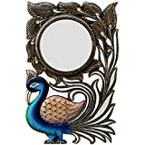 Ghanshyam Art Wood Peacock Wall Mirror (30.48 Cm X 4 Cm X 45.72 Cm, GAC077)