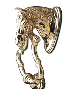 Mayer mill brass horse head door knocker - Horse head door knocker ...