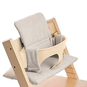 stokke tripp trapp cushion grey loom childrens highchairs baby. Black Bedroom Furniture Sets. Home Design Ideas