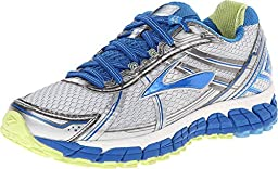 Brooks Women\'s Adrenaline Gts 15 White/DazzlingBlue/SharpGreen Running Shoe 6.5 Women US