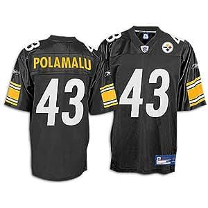 Reebok Pittsburgh Steelers Troy Polamalu Replica Jersey Extra Large