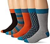 PACT Mens Spring Crew Socks 5-Pack