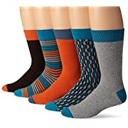 PACT Men's Spring Crew Socks 5-Pack