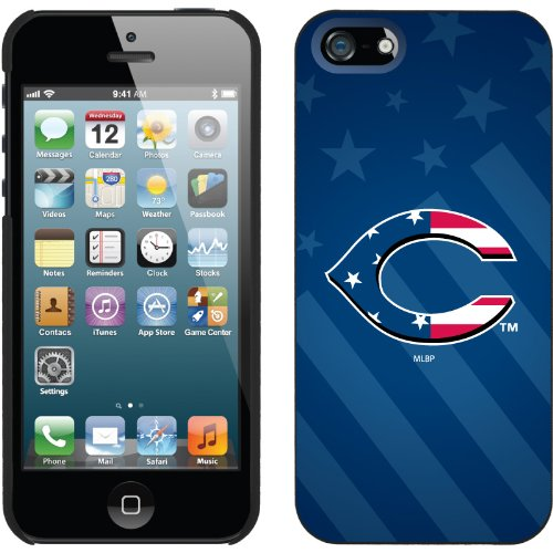 Special Sale Cincinnati Reds - USA Blue design on a Black iPhone 5 Thinshield Snap-On Case by Coveroo