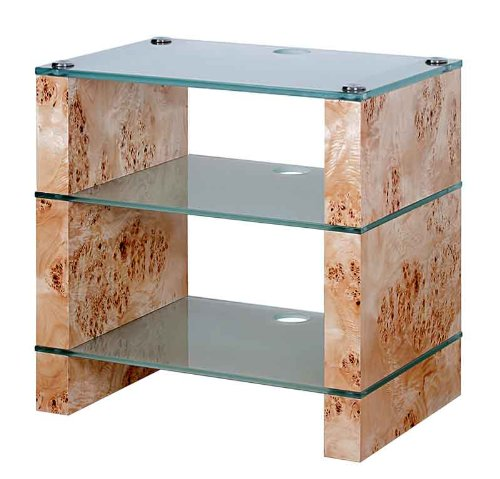 Cheap BLOK STAX DeLuxe 300 Three Shelf Burr Poplar Hifi Audio Stand & AV TV Furniture Rack Unit (B008AHJ54M)