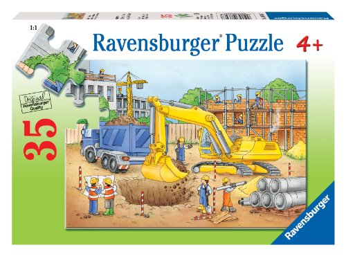 Ravensburger Busy Builders - 35 Piece Puzzle - 1