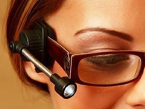 Universal Flexible LED Eyeglass Clip On Book Reading Light Lamp For Glasses, Safety Glasses