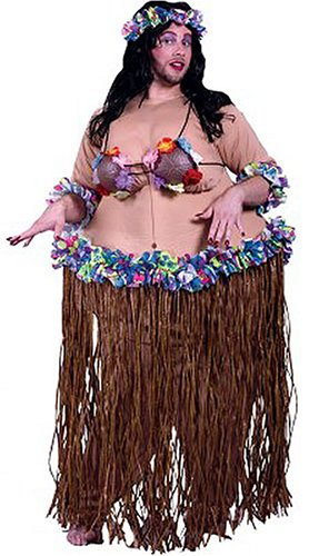 Luau Larry Fat Hula Girl Costume - Buy Luau Larry Fat Hula Girl Costume - Purchase Luau Larry Fat Hula Girl Costume (Jekyll and Hyde, Apparel, Departments, Accessories, Women's Accessories)