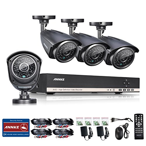 AHD-960P-Annke-8CH-1080N-AHD-DVR1080P-NVR-Security-System-with-4x-13MP-Outdorr-Fixed-CCTV-Cameras-IP66-Weatherproof-Super-Night-Vision-P2PQR-Code-Scan-Easy-Setup-NO-HDD