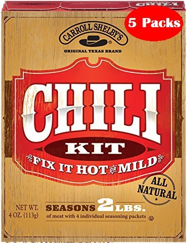 Carroll Shelbys Chili Kit 4 Oz Pack of 5 (Carrolls Chili Mix compare prices)