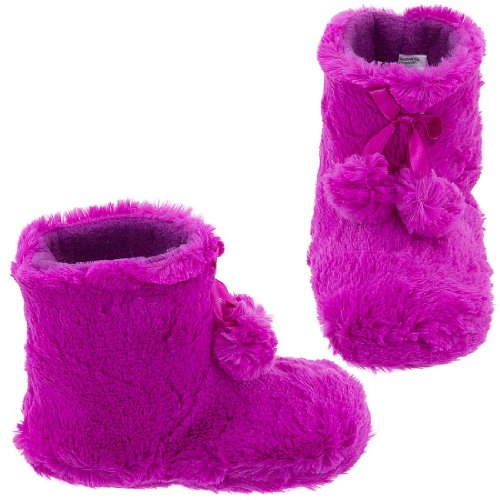 Image of Fuchsia Bootie Slippers for Toddlers and Girls (B005Y4SLWQ)