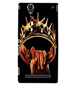 ColourCraft The Crown Design Back Case Cover for SONY XPERIA T2 ULTRA DUAL D5322